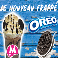 franchise coffee shop gourmand frappé oreo